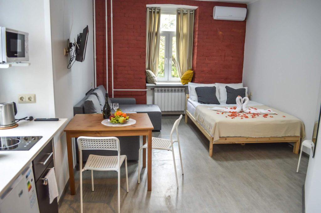 Фотография номера «Лучшая студия» в апарт-отеле VNorke.ru